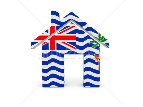 Home with flag of british indian ocean territory Stock photo © MikhailMishchenko
