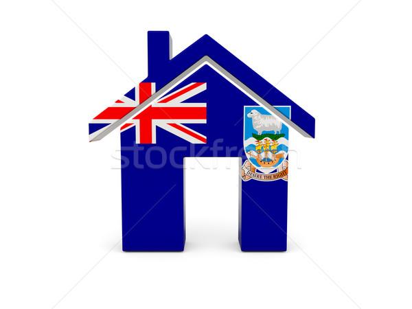 Otthon zászló Falkland-szigetek izolált fehér keresés Stock fotó © MikhailMishchenko