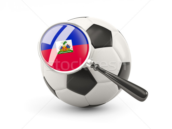 Football with magnified flag of haiti Stock photo © MikhailMishchenko