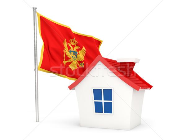 House with flag of montenegro Stock photo © MikhailMishchenko