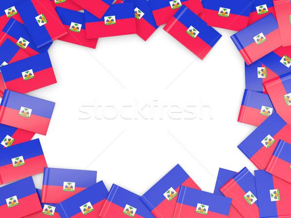 Frame bandiera Haiti isolato bianco Foto d'archivio © MikhailMishchenko