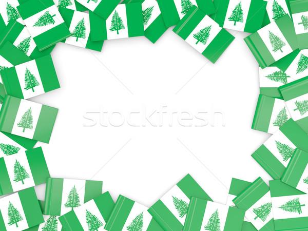 Frame with flag of norfolk island Stock photo © MikhailMishchenko