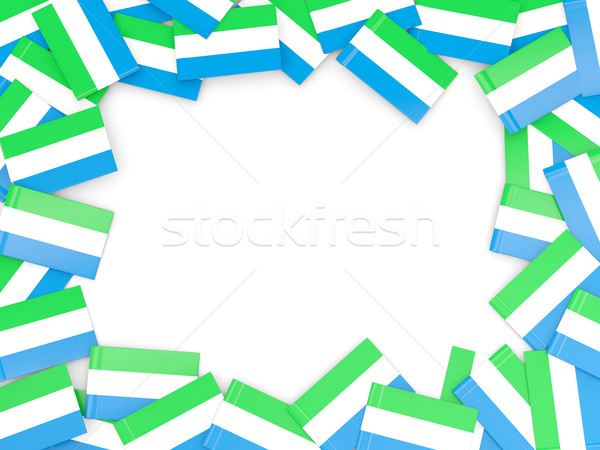 Frame with flag of sierra leone Stock photo © MikhailMishchenko