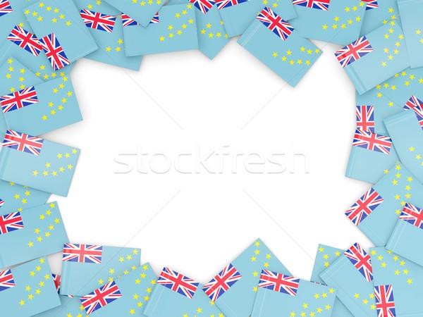 Quadro bandeira Tuvalu isolado branco Foto stock © MikhailMishchenko