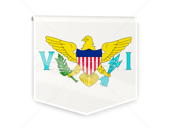 флаг Label Виргинские о-ва изолированный белый знак Сток-фото © MikhailMishchenko