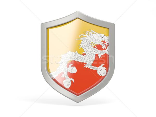 Schild icon vlag Bhutan geïsoleerd witte Stockfoto © MikhailMishchenko