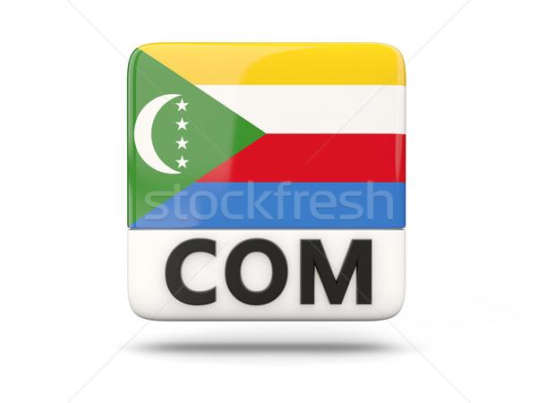 Square icon with flag of comoros Stock photo © MikhailMishchenko