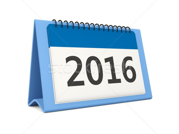 2016 New year calendar icon Stock photo © MikhailMishchenko