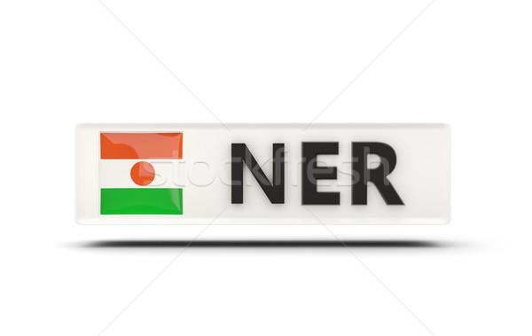 Cuadrados icono bandera Níger iso código Foto stock © MikhailMishchenko