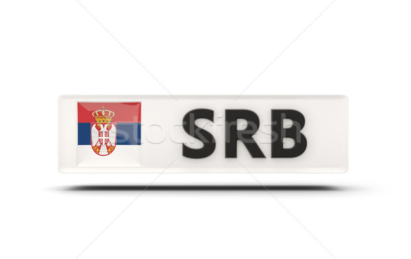 Cuadrados icono bandera Serbia iso código Foto stock © MikhailMishchenko