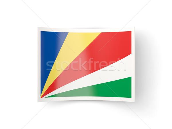 Bent icon with flag of seychelles Stock photo © MikhailMishchenko