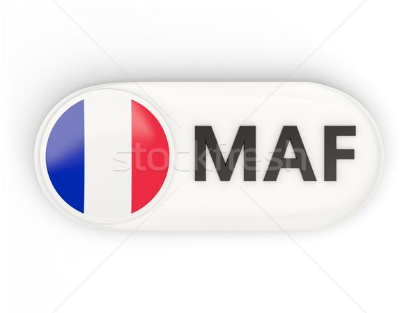 Round icon with flag of saint martin Stock photo © MikhailMishchenko