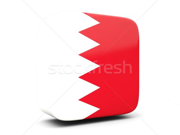 Praça ícone bandeira Bahrein ilustração 3d isolado Foto stock © MikhailMishchenko