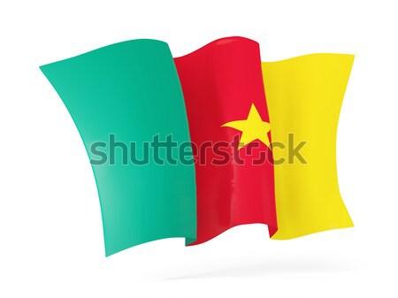 Bandeira Camarões ilustração 3d isolado branco Foto stock © MikhailMishchenko