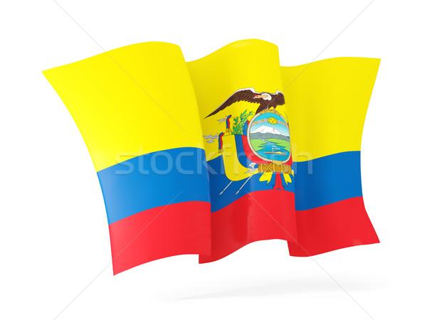 Bayrak Ekvador 3d illustration yalıtılmış beyaz Stok fotoğraf © MikhailMishchenko