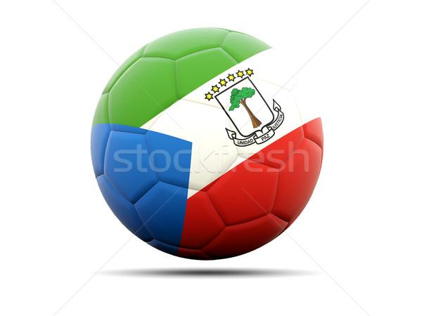 Futball zászló Egyenlítői-Guinea 3d illusztráció futball sport Stock fotó © MikhailMishchenko
