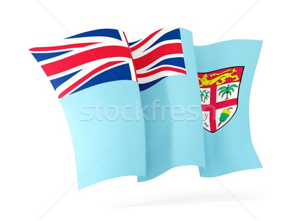 Integet zászló Fidzsi-szigetek 3d illusztráció izolált fehér Stock fotó © MikhailMishchenko