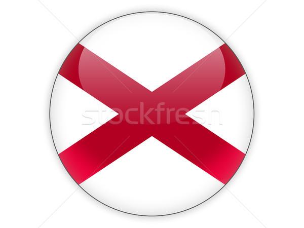 Bayrak ikon yalıtılmış beyaz 3d illustration düğme Stok fotoğraf © MikhailMishchenko