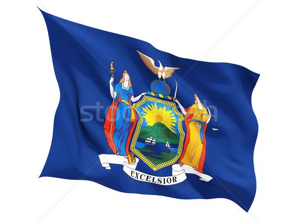Flag of new york, US state fluttering flag Stock photo © MikhailMishchenko