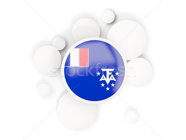 Round flag of french southern territories with circles pattern Stock photo © MikhailMishchenko