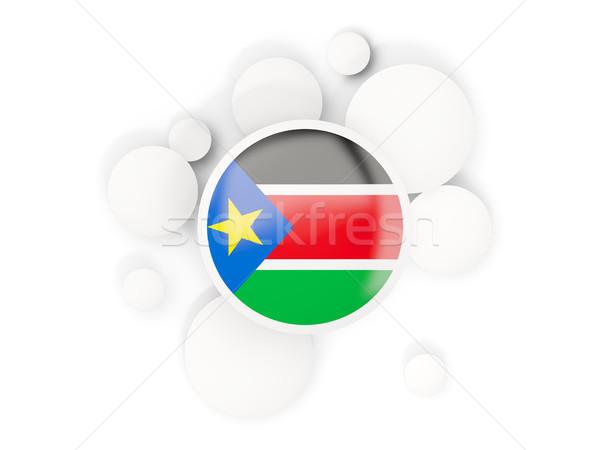 Banderą południe circles wzór odizolowany biały Zdjęcia stock © MikhailMishchenko