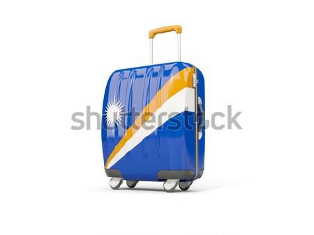 Luggage with flag of uruguay. Suitcase isolated on white Stock photo © MikhailMishchenko