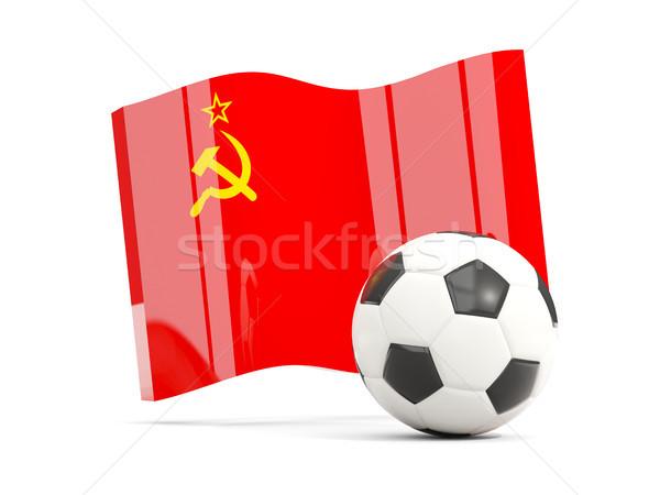Fútbol bandera urss aislado blanco Foto stock © MikhailMishchenko