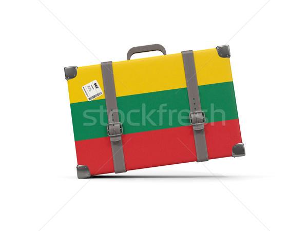 荷物 フラグ リトアニア スーツケース 孤立した 白 ストックフォト © MikhailMishchenko