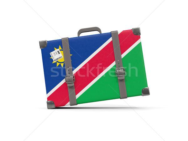 Камера флаг Намибия чемодан изолированный белый Сток-фото © MikhailMishchenko