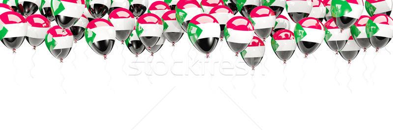 Ballonnen frame vlag Soedan geïsoleerd witte Stockfoto © MikhailMishchenko
