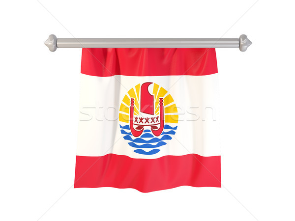 Pennant with flag of french polynesia Stock photo © MikhailMishchenko
