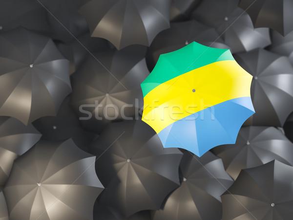 зонтик флаг Габон Top черный Сток-фото © MikhailMishchenko