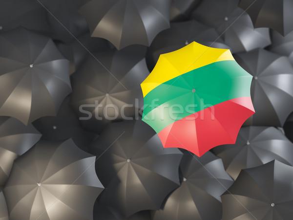 傘 フラグ リトアニア 先頭 黒 傘 ストックフォト © MikhailMishchenko