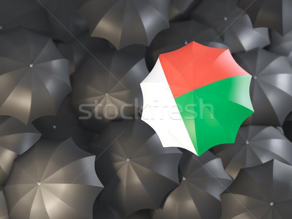 Umbrella with flag of madagascar Stock photo © MikhailMishchenko