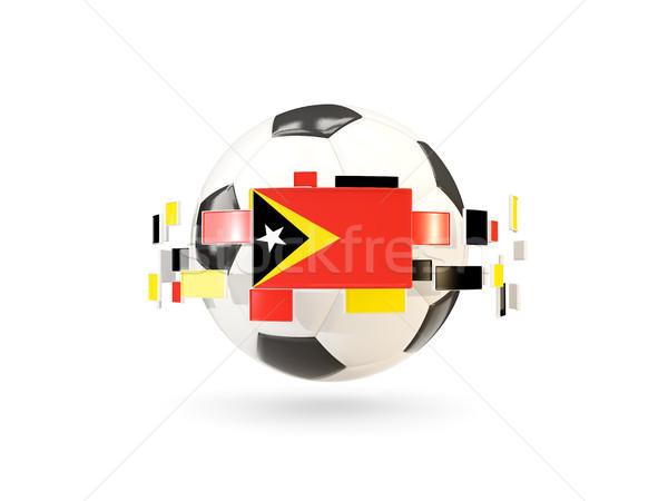 Soccer ball with line of flags. Flag of east timor Stock photo © MikhailMishchenko