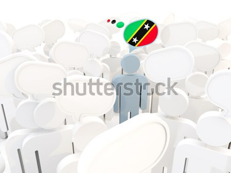 человека флаг Дания толпа 3d иллюстрации знак Сток-фото © MikhailMishchenko
