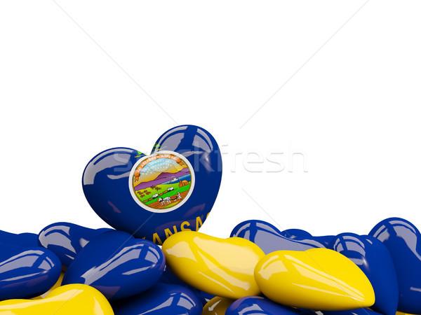Heart shaped kansas state flag. United states local flags Stock photo © MikhailMishchenko