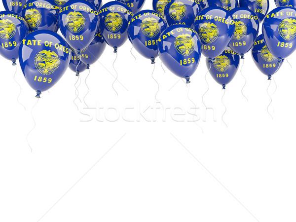 Balloons frame with flag of oregon. United states local flags Stock photo © MikhailMishchenko
