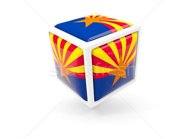 Arizona vlag kubus icon Verenigde Staten lokaal Stockfoto © MikhailMishchenko