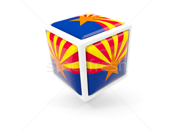 arizona state flag in cube icon. United states local flags Stock photo © MikhailMishchenko