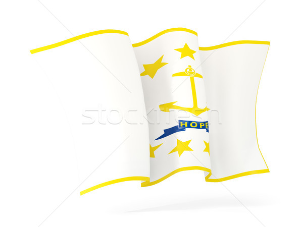 rhode island state flag waving icon close up. United states loca Stock photo © MikhailMishchenko