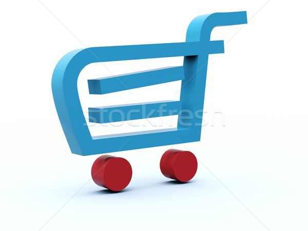 Shopping cart icon Stock photo © MikhailMishchenko