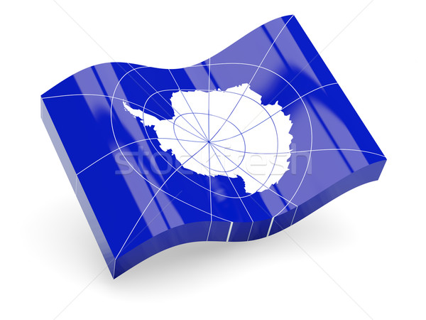3d flag of Antarctic Stock photo © MikhailMishchenko