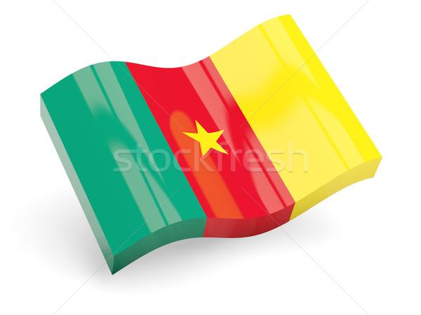 3D banderą Kamerun odizolowany biały podróży Zdjęcia stock © MikhailMishchenko