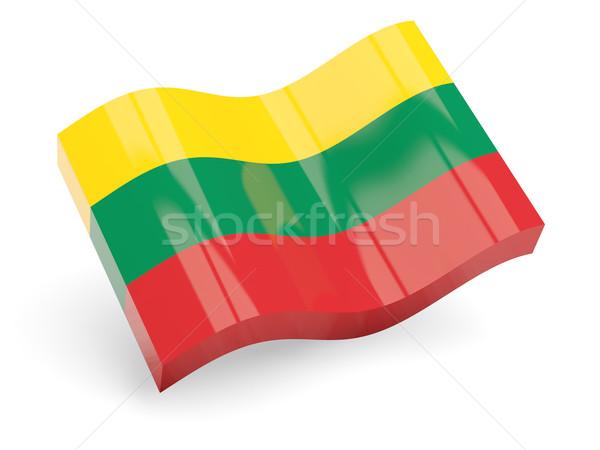 3d flag of lithuania Stock photo © MikhailMishchenko