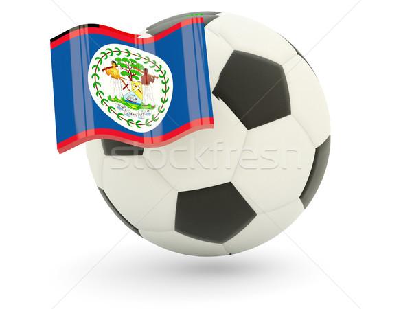 Futball zászló Belize izolált fehér sport Stock fotó © MikhailMishchenko