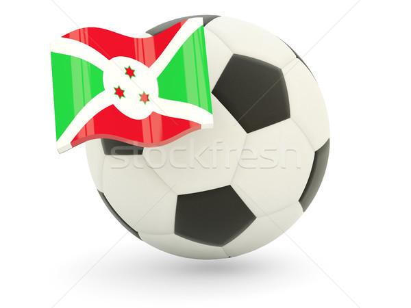 Futebol bandeira Burundi isolado branco esportes Foto stock © MikhailMishchenko