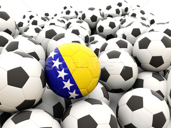 Fútbol bandera Bosnia Herzegovina regular verano Foto stock © MikhailMishchenko