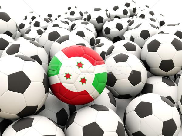 Futebol bandeira Burundi regular futebol Foto stock © MikhailMishchenko