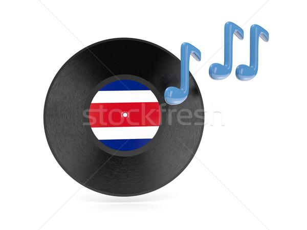 Vinyl disk with flag of costa rica Stock photo © MikhailMishchenko
